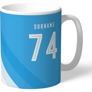 Personalised Manchester City FC Stripe Mug