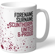 Personalised Scunthorpe United FC Proud Mug