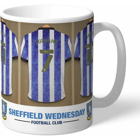 Personalised Sheffield Wednesday FC Dressing Room Shirts Mug