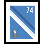 Personalised Sheffield Wednesday Stripe Framed Print