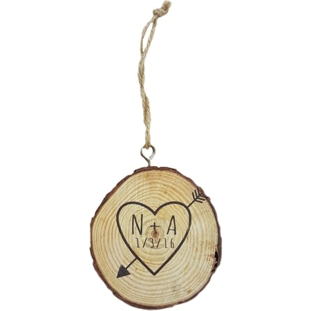 Personalised Sketch Heart Tree Plaque