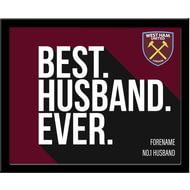 Personalised West Ham United Best Husband Ever 10x8 Photo Framed