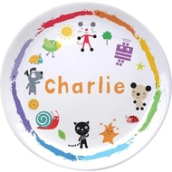 Personalised Arty Mouse Scatter Character Ceramic Plate