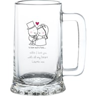 Personalised Chilli & Bubble's To Have & To Hold Glass Stern Tankard