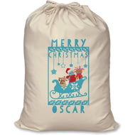 Personalised In The Night Garden Snowtime Christmas Santa Sack