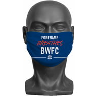 Personalised Bolton Wanderers FC Breathes Adult Face Mask