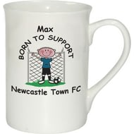 Personalised Born To Support Ceramic Mug