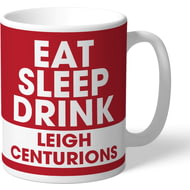Personalised Leigh Centurions Eat Sleep Drink Mug