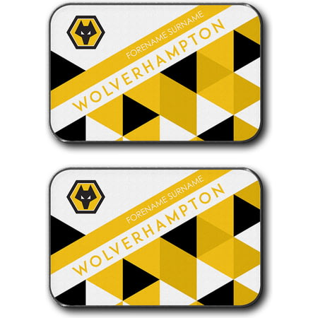 Personalised Wolves Patterned Rear Car Mats