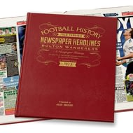 Personalised Bolton Football Newspaper Book - Leather Cover