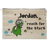 Personalised Cosmic Dinosaur Pencil Case