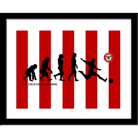 Personalised Brentford Evolution Framed Print