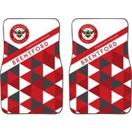 Personalised Brentford FC Patterned Front Car Mats