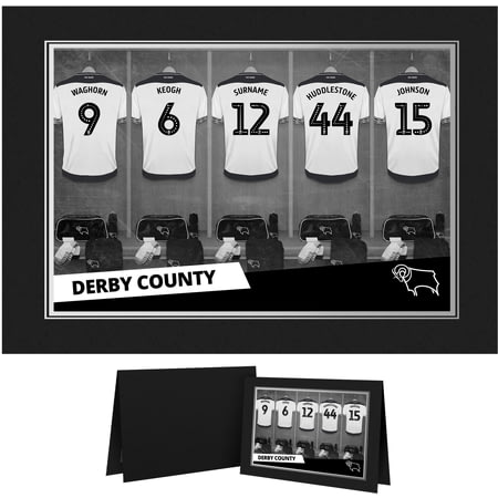 Personalised Derby County 9x6 Dressing Room Shirts Photo Folder