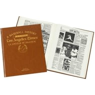 Personalised La Angels Of Anaheim Baseball Newspaper Book