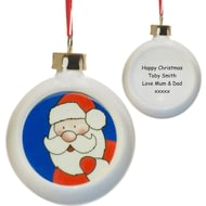 Personalised Santa Claus Christmas Tree Bauble