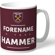 Personalised West Ham United True Hammer Mug