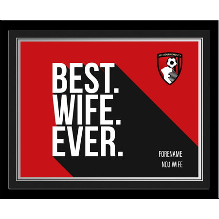Personalised Bournemouth Best Wife Ever 10x8 Photo Framed