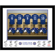 Personalised Chelsea FC Dressing Room Shirts Framed Print