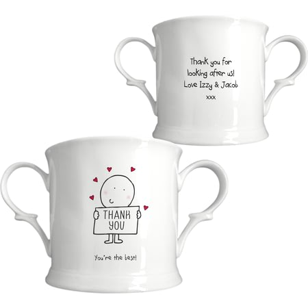 Personalised Chilli & Bubbles Thank You Loving Cup