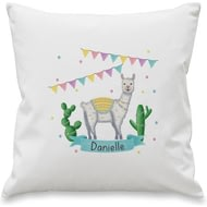 Personalised Llama Fiesta Cushion Cover