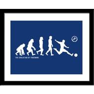 Personalised Millwall FC Evolution Framed Print