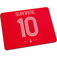 Personalised Nottingham Forest FC Retro Shirt Mouse Mat