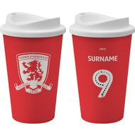 Personalised Middlesbrough FC Back Of Shirt 350ml Reusable Tea / Coffee Cup