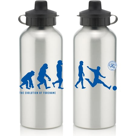 Personalised Queens Park Rangers FC Player Evolution Aluminium Sports Water Bottle