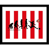 Personalised Sunderland AFC Evolution Print