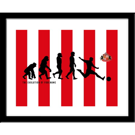 Personalised Sunderland AFC Evolution Framed Print