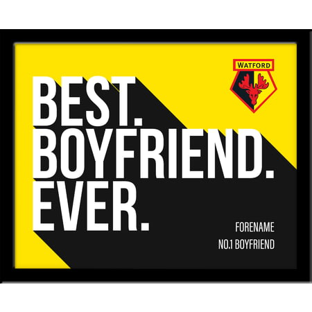 Personalised Watford Best Boyfriend Ever 10x8 Photo Framed