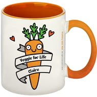 Personalised Veggie For Life Orange Inside Mug