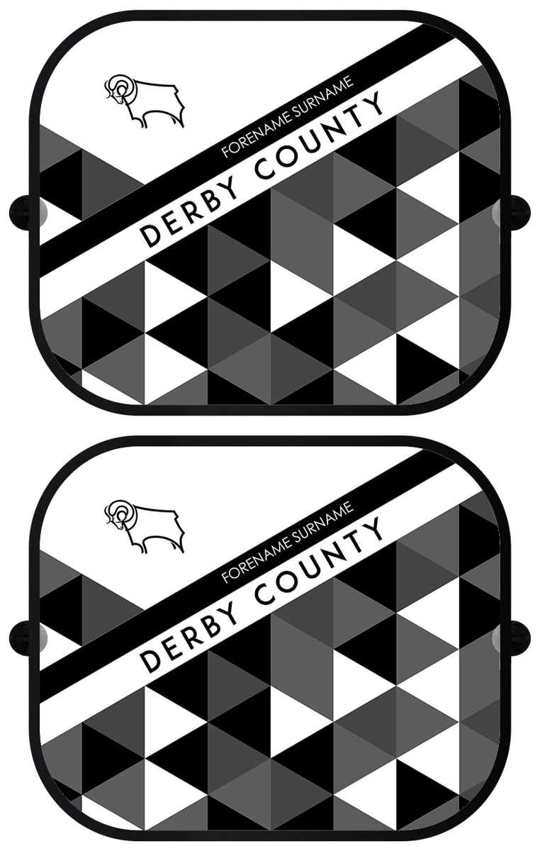 Personalised Car Mats Derby County F.C FRONT - PATTERNED