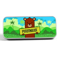 Personalised Kids Bear Pencil Tin