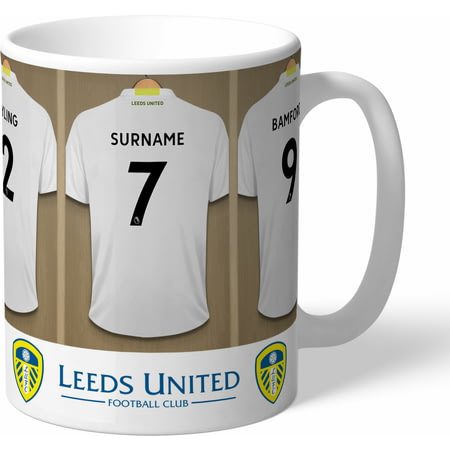 Personalised Leeds United FC Dressing Room Shirts Mug