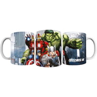 Personalised Marvel Avengers Assemble Group Scene Mug