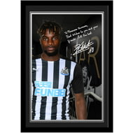 Personalised Newcastle United FC Saint-Maximin Autograph Photo Framed