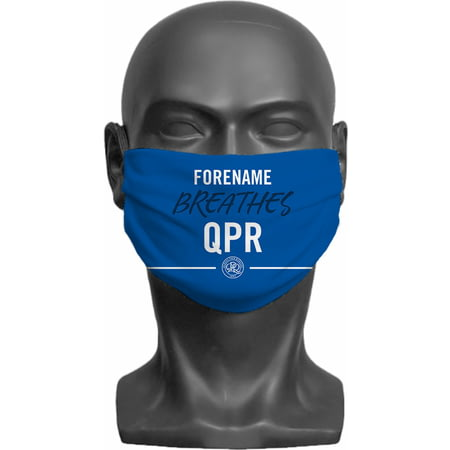 Personalised Queens Park Rangers FC Breathes Adult Face Mask