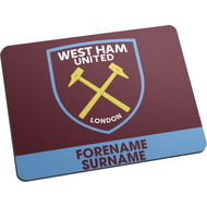 Personalised West Ham United FC Bold Crest Mouse Mat