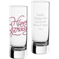 Personalised Birthday Shot Glass Pink