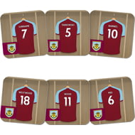 Personalised Burnley FC Dressing Room Coasters