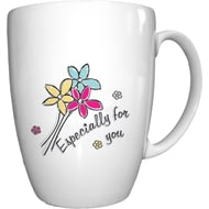 Personalised Especially For You Flowers Conic Ceramic Mug