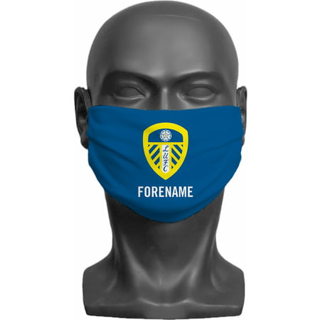 Personalised Leeds United FC Crest Adult Face Mask