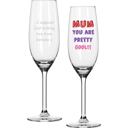 Personalised Mum You Are…Glass Champagne Flute