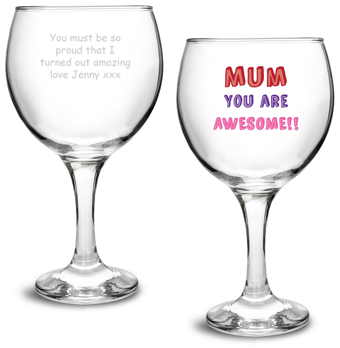 Personalised Mum You Are Gin Balloon Glass
