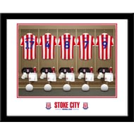 Personalised Stoke City FC Dressing Room Shirts Framed Print