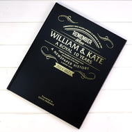 Personalised William And Kate Anniversary Newspaper Book