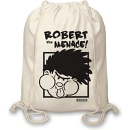 Personalised Beano Big Heads Dennis Drawstring Bag
