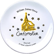 "Personalised Church Confirmation 8"" Coupe Plate"